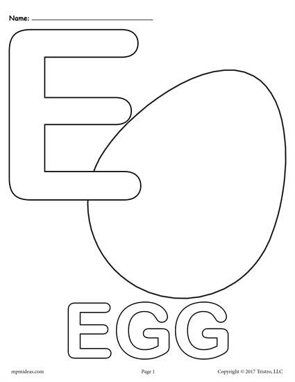 Letter E Alphabet Coloring Pages 3 FREE Printable Versions Free