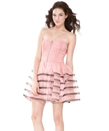 Film Noir Ruced Strapless Dress by Betsey Johnson. This would never ...