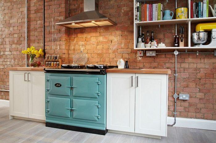 100 Kücheneinrichtung Beispiele mit industriellem Look | offene ...
