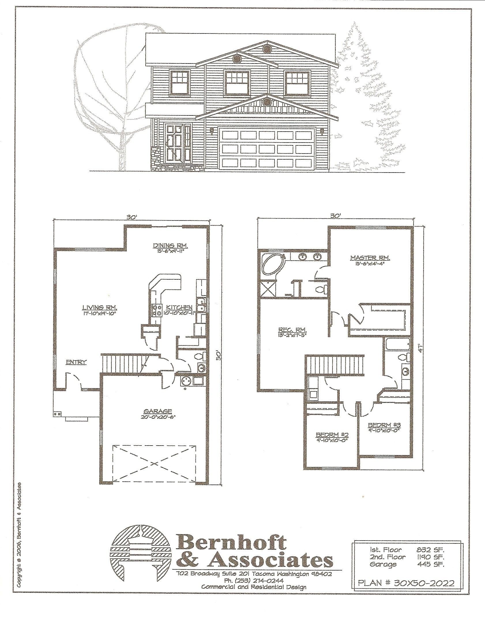 Floor Plan 2 Story Small Modern Small House Plans By