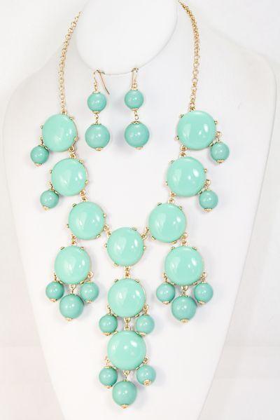 Turquoise Bubble Necklace, $17.00