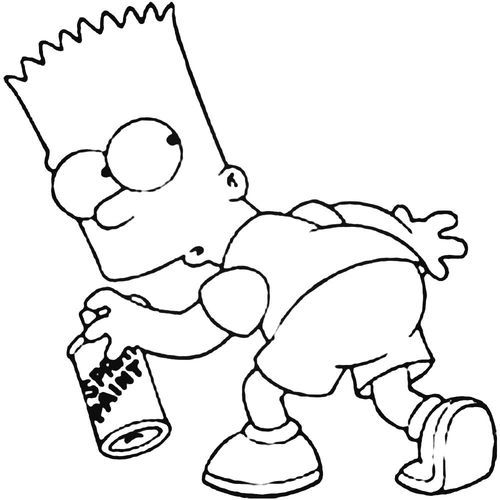 bart simpson decal sticker  bart simpson drawing