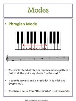 MODES:34 pages - Teacher resources, Student workbook and music ...