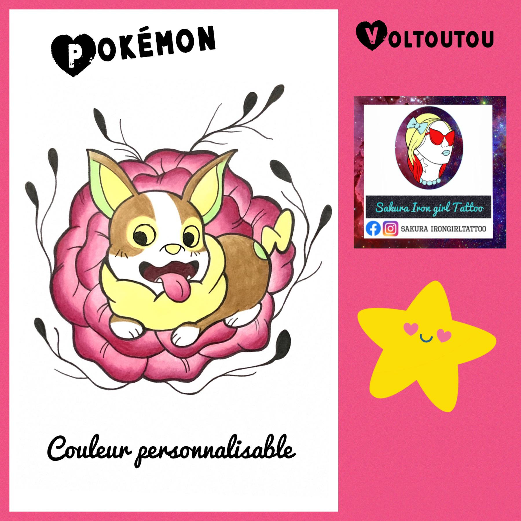 Voltoutou pokemon flash Sakura irongirltattoo tattoo ...