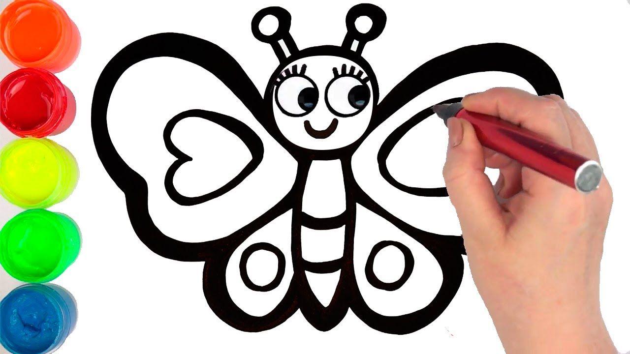 Как нарисовать БАБОЧКУ 🦋 мультик раскраска БАБОЧКА для ...
