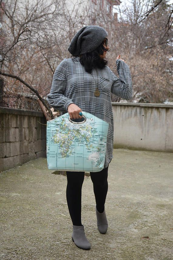 World map top handle bag oval handle summer bag map canvas bag world map top handle bag oval handle summer bag map canvas bag rucksack handbag travel womens bag mapamundi purse gift for her pinterest top gumiabroncs Images