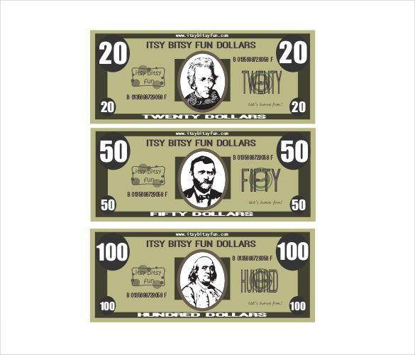 Play Money Template Free \ Premium Templates Body parts - free money templates