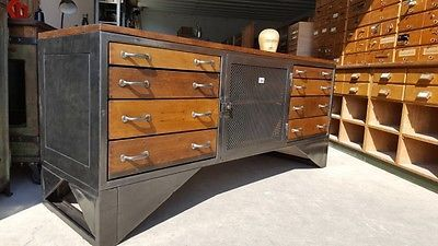 gro er alter loft industrie design schubladenschrank sideboard werkbank 1950 unsere m bel. Black Bedroom Furniture Sets. Home Design Ideas