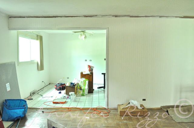 Adding bead board paneling to update  a  wall