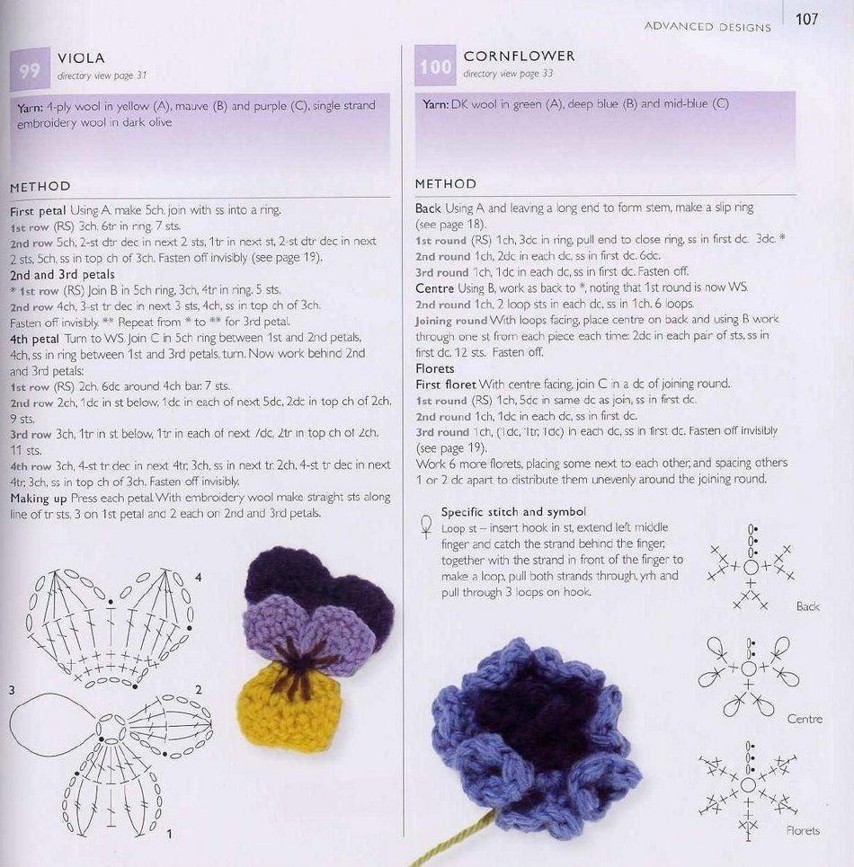 104.jpg 950×965 pixels | Crochet - Flowers | Pinterest | Flores ...