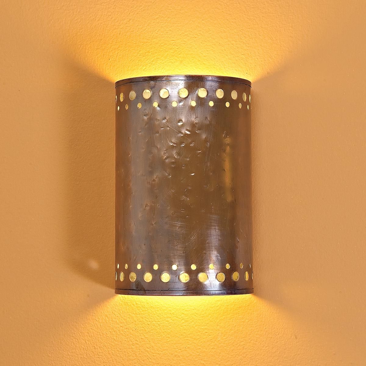 Hammered Copper Indoor Wall Sconce Designed by our founder for a ...
