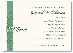 Your presence is the only present desired35th anniversary party your presence is the only present desired35th anniversary party invitations green calligraphy stopboris Images