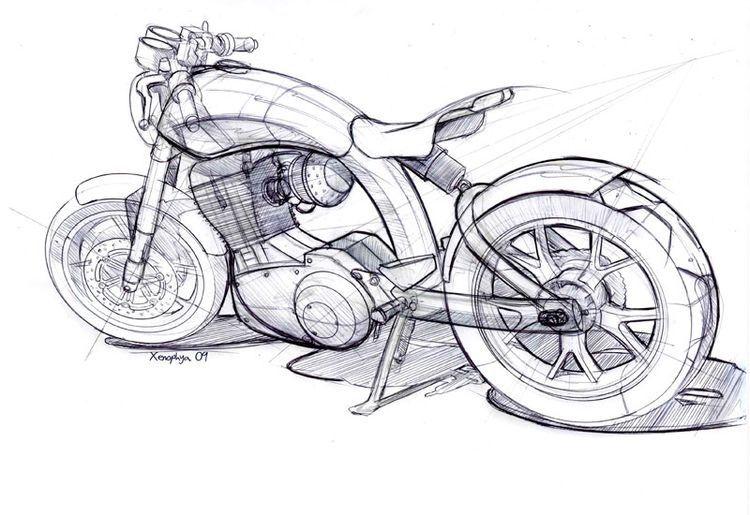 Motor Cizimi Bisiklet Cizimi Cizim Eskiz