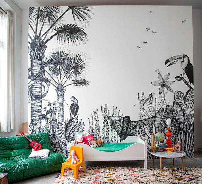 kreative wandgestaltung im kinderzimmer | wallpapers | pinterest ... - Kreative Wandgestaltung