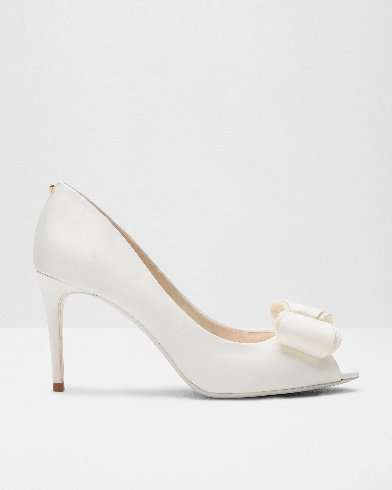 3be0c760e Bow detail peep-toe courts - Ivory