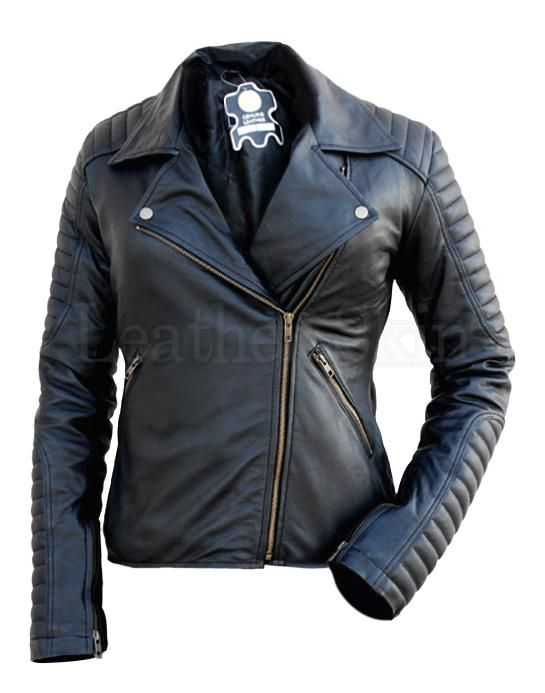 673c1c475 NWT Black Brando Padded Shoulder Sleeves Women Genuine Real Pure ...