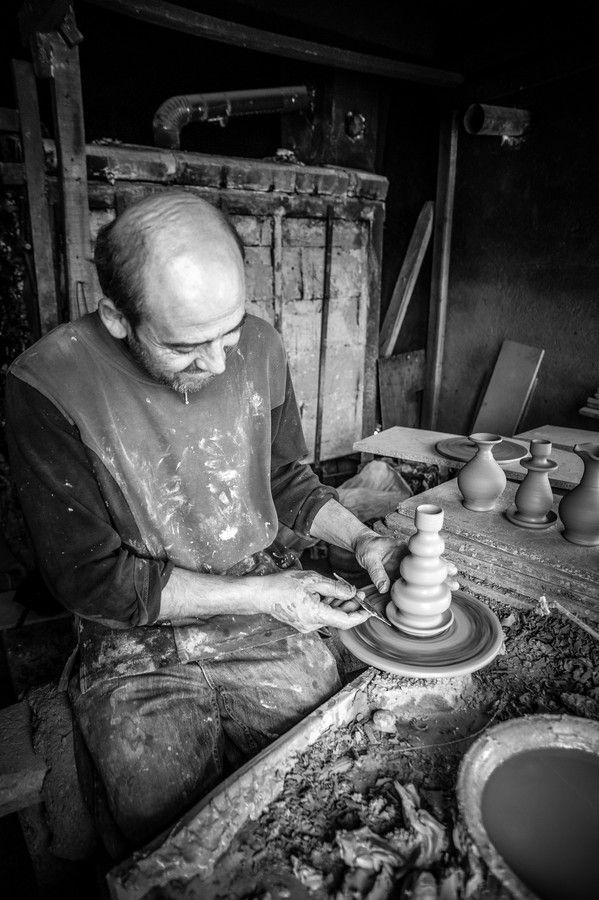 Potter working hard