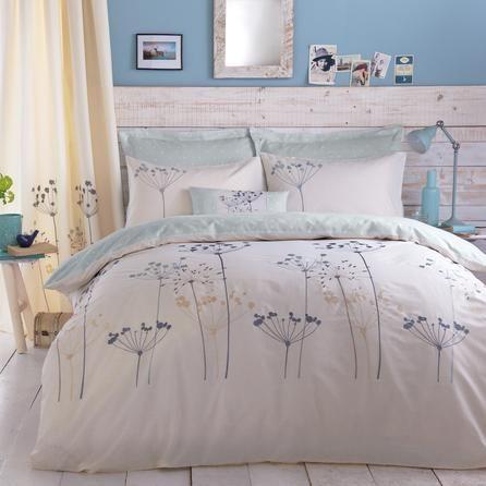 Duck Egg Cow Parsley Collection Duvet Cover Dunelm Ropa De Cama Bordada Decoraciones De Dormitorio Dormitorios