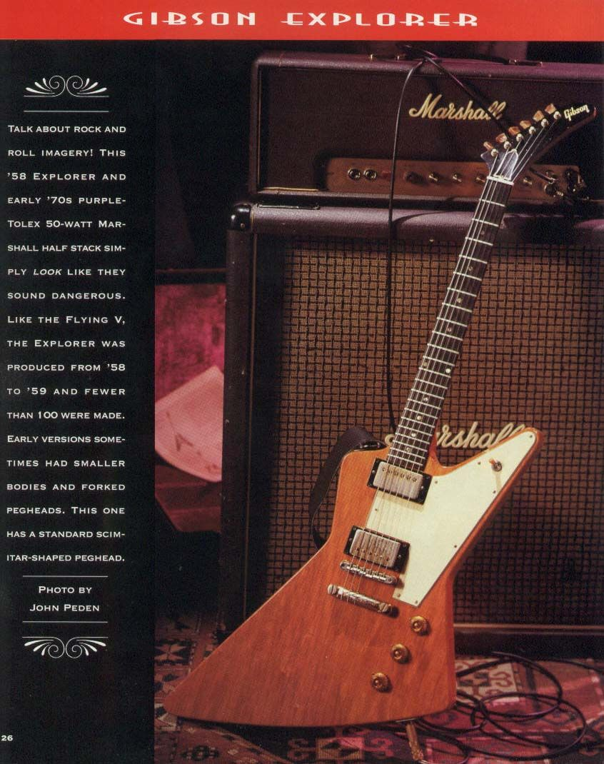 1958 Gibson Explorer Vintage Guitar Gallery From Player Mag Les Paul Wiring Diagram Page 26