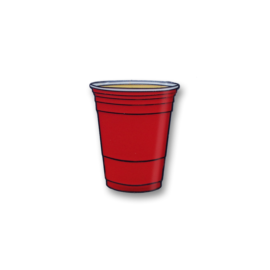 Party Cup Enamel Pin Party Cups Red Party Enamel Pins