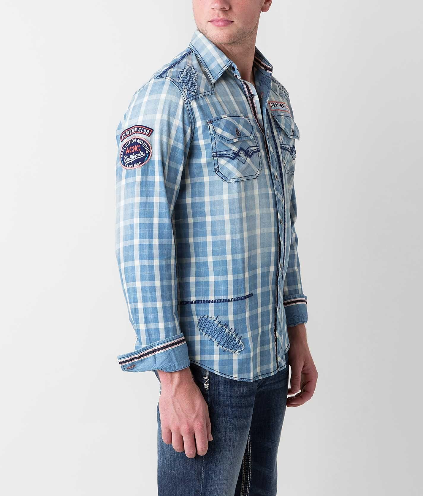 Affliction Black Premium First Ascent Shirt - Men's Tops   Buckle