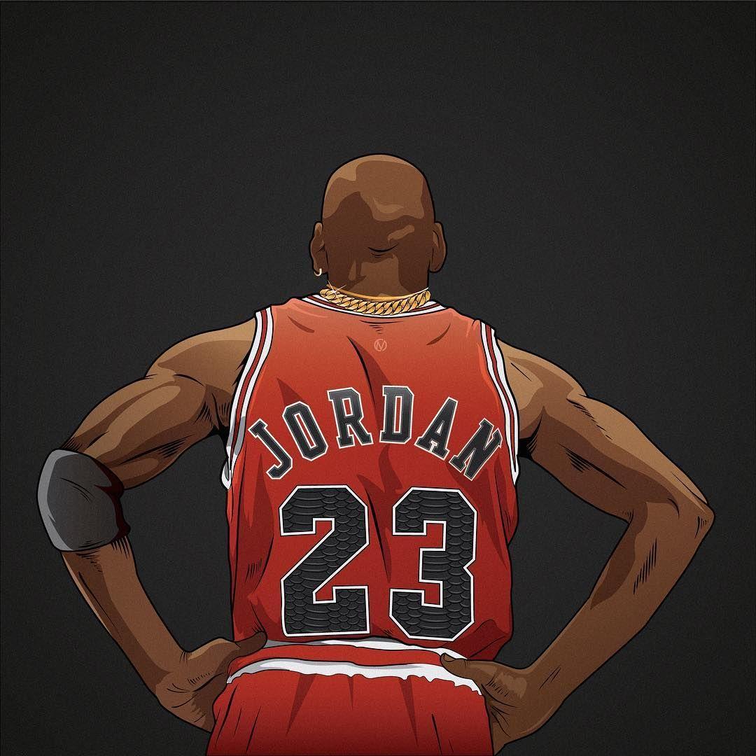 Michael Jordan Six Rings x Two Chains Illustration