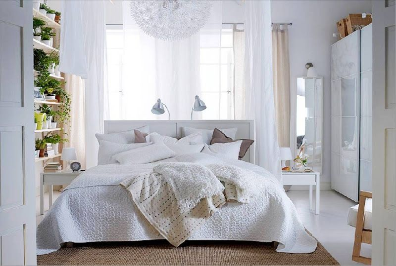 Warm Modern Decorating Small Bedroom Decor White Bedroom