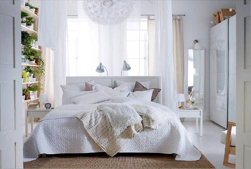 Warm Modern Decorating Small Bedroom Decor White Bedroom