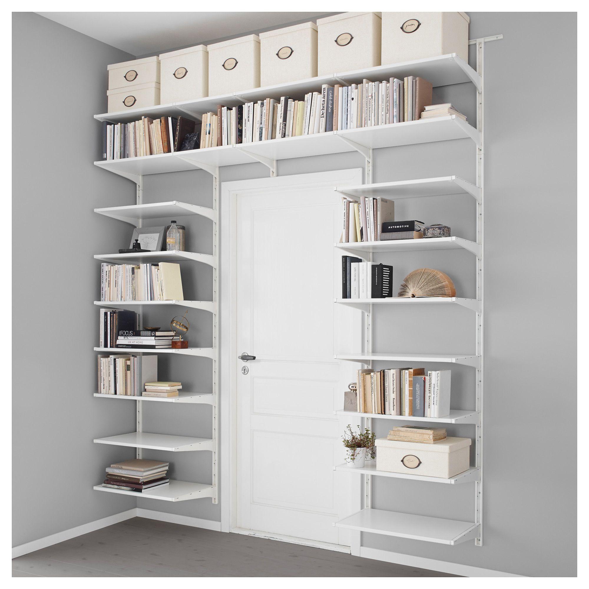 Algot Wall Upright Shelves White 95 1 4x16 1 8x78 3 8 แบบ