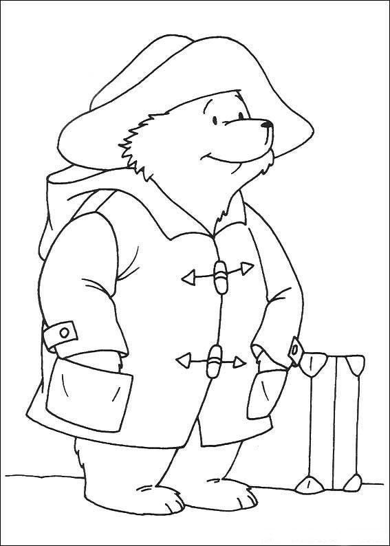 coloring page paddington bear kids n fun cupcakes pinterest