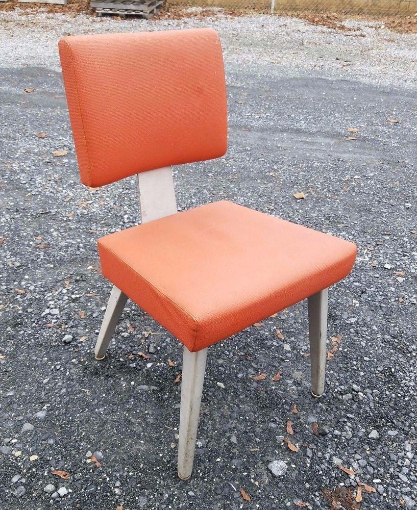 Vintage Mid Century Modern Aluminum Side Chair Good Form