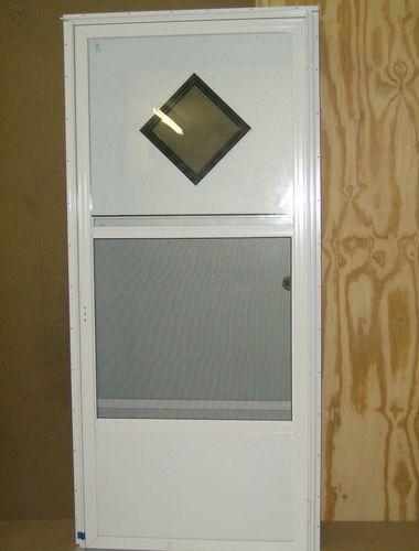 Doors And Windows Front Combination Doors Combination Door 10 X10 Diamond Window 4 Jamb For M Mobile Home Doors Mobile Home Makeovers Aluminum Storm Doors