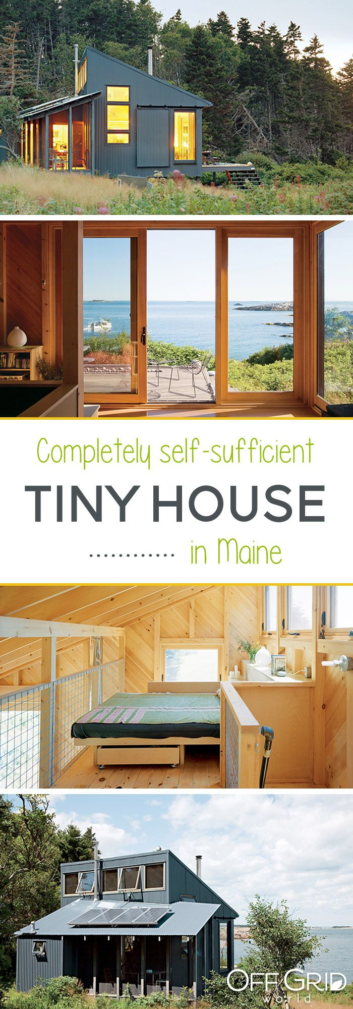 Tiny Maine Cottage Is Completely Self Sustainable Off Grid World Tiny Cottage Maine Cottage Tiny House Design