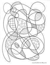 coloring sheets, great site about doodling