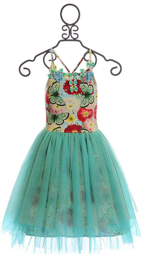 d69b0ceab2 Paper Wings Tutu Dress Butterfly Floral (Size 4) | Wedding | Girls ...