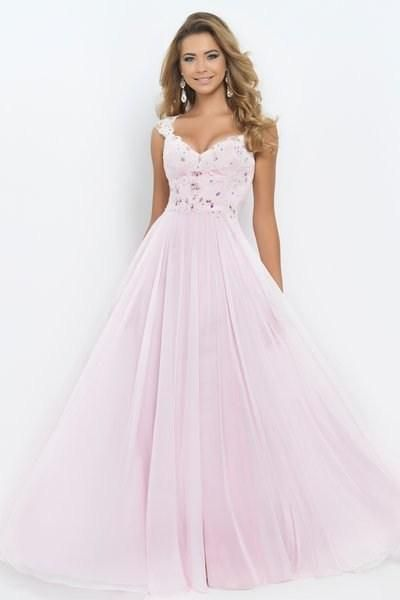 2014 light pink blush 9986 prom dresses v neck cap sleeve sheer ...