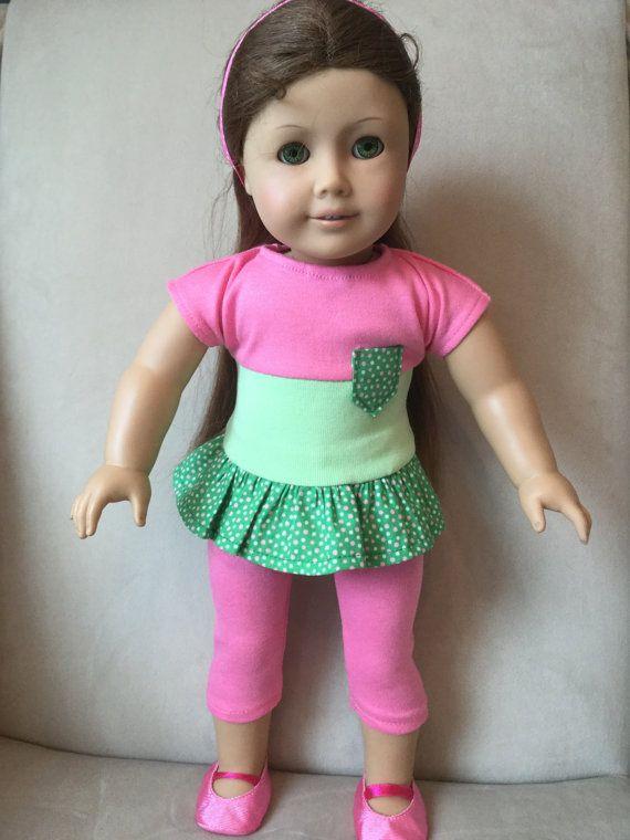 American Girl doll top Pants T-shirt/tunic Pocket by AdorablyDolly