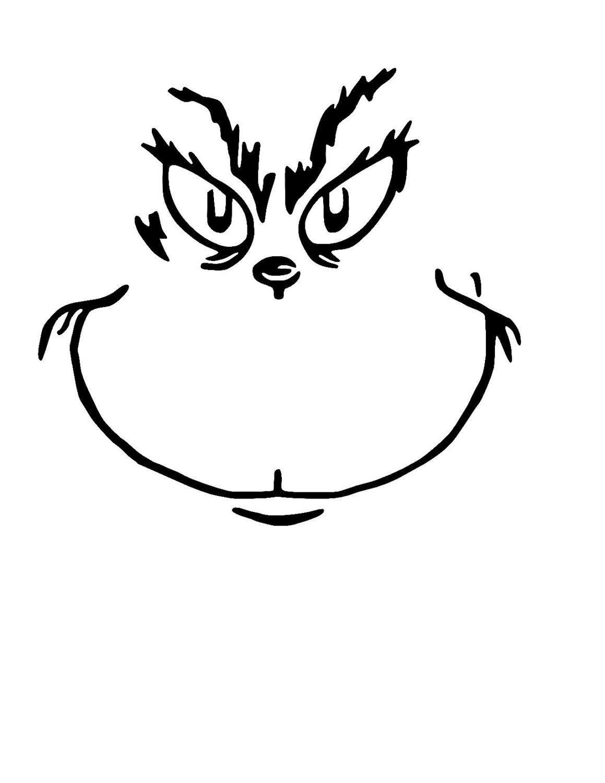 Grinch Christmas Shirt Grinch Face Svg Grinch Cricut Face Template