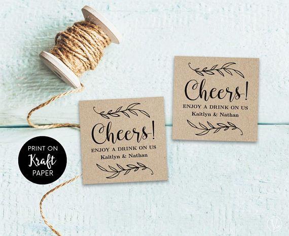 Drink Tickets, Drink Token, Printable Wedding Drink Tickets, Wedding