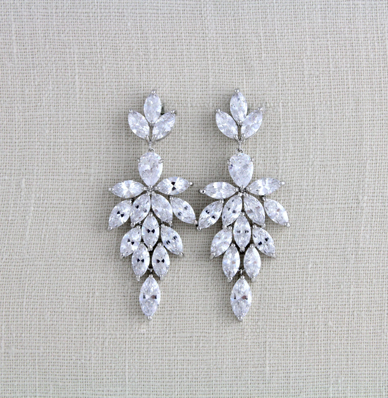 Crystal bridal earrings bridal jewelry statement earrings wedding crystal bridal earrings bridal jewelry statement earrings wedding earrings chandelier earrings arubaitofo Choice Image