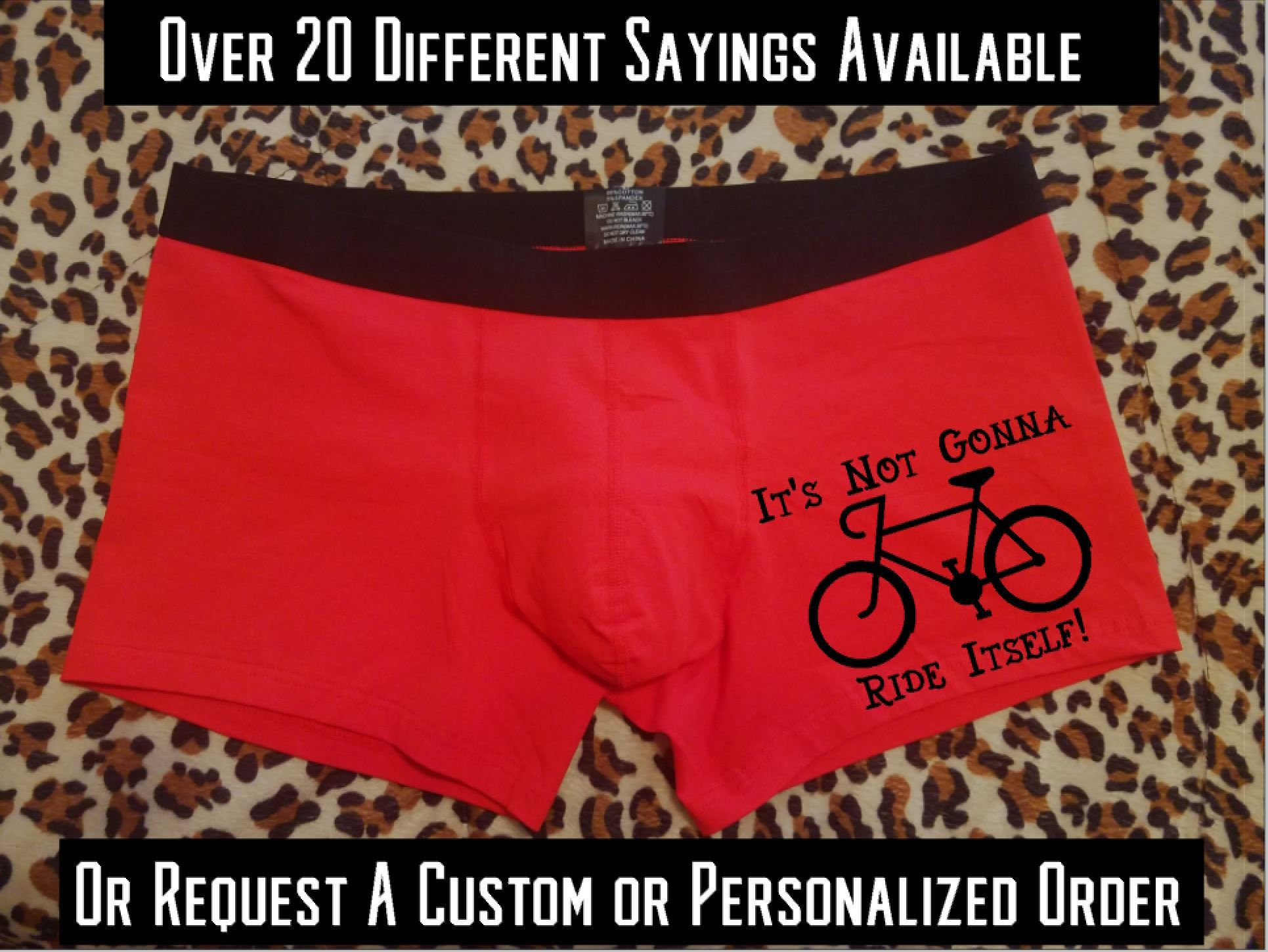 05aa1aad622d Funny Valentine's Day Gift for Him, Funny Personalized Underwear for Men,  Gift for Boyfriend, Sexy Custom Boxer Briefs, Wanna Touch My Cock   Country  Fine ...