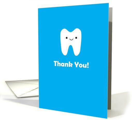 Thank You Dentist Orthodontist Card Orthodontist Dentist Cards
