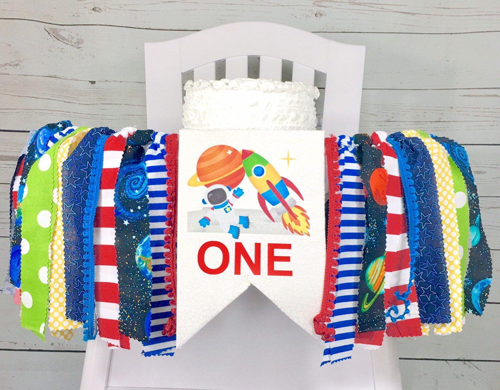 Space ONE High Chair Banner space ship banner rocket ship one high chair banner rocket ship party
