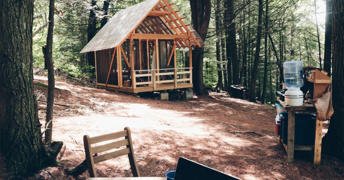 Tanglebloom Tiny OpenAir Cabin Cabin, Open air, Screen