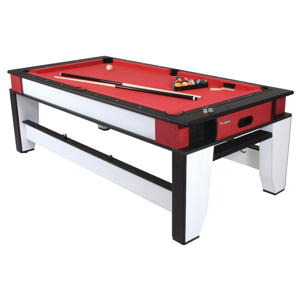 Atomic 7 2 In 1 Flip Top Billiards Air Hockey Table Air Hockey
