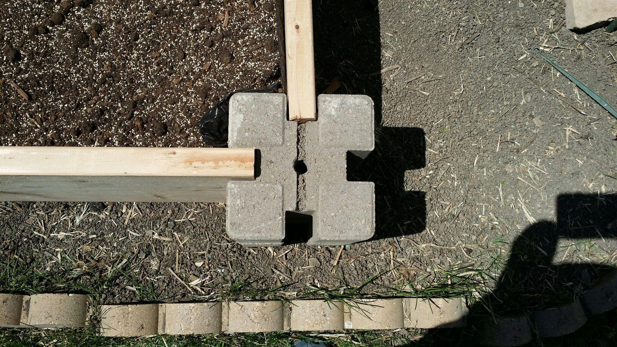 Raised Garden Cement Corner Blocks Make Building A Raised Garden