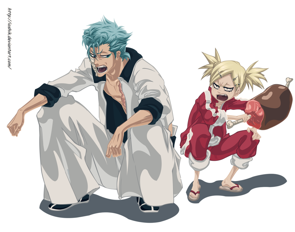Hiyori and Grimmjow by ioshik Bleach anime, Anime, Anime boy