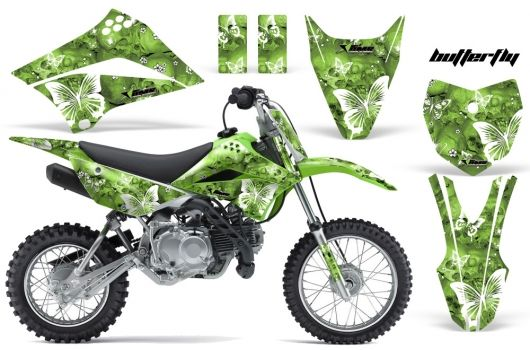 2010-2013 KLX110 Graphics kit  Kawasaki Motocross Graphic