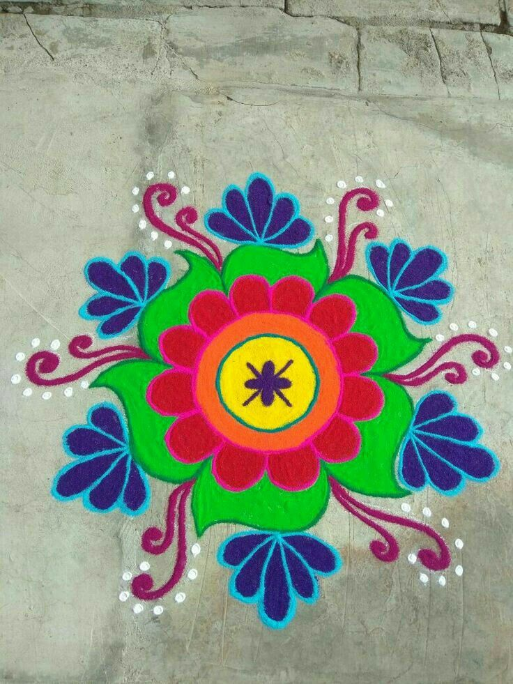Pin by Sayali Patil on Rangoli Colorful rangoli designs