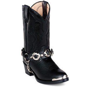 DURANGO BT560 Boot Cowboy Shoe Black Youth Kid Girls SZ